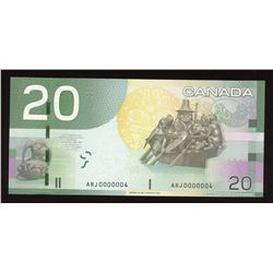 Bank of Canada $20, 2004 - Low Serial Number