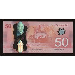Bank of Canada $50, 2012 - Low Serial Number