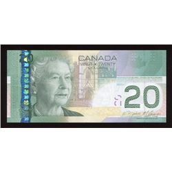 Bank of Canada $20, 2009 - Incomplete Printing Error