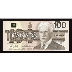 Bank of Canada $100, 1988 - Ink Smear Error