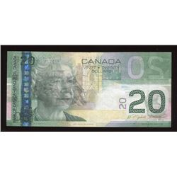 Bank of Canada $20, 2004 - Offset Printing Error