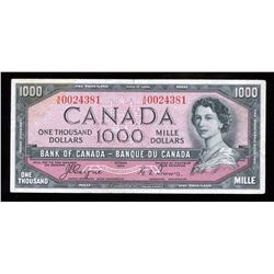 Bank of Canada $1000, 1954 Devil's Face