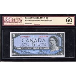 Bank of Canada $5, 1954 - Transitional Prefix