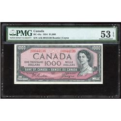 Bank of Canada $1000, 1954 Transition Note