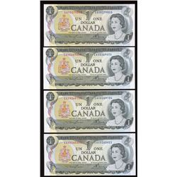 Bank of Canada $1, 1973 - Lot of 4 Replacement Notes
