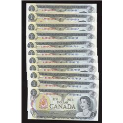 Bank of Canada $1, 1973 - Lot of 22 Replacement Notes