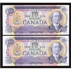 Bank of Canada $10, 1971 - Lot of 2 Replacement Notes