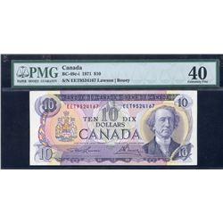 Bank of Canada $10, 1971 Scarce EET Good Over Prefix