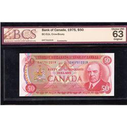 Bank of Canada $50, 1975 - Transitional Prefix