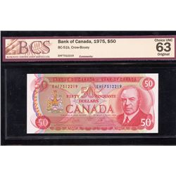 Bank of Canada $50, 1975 - Transitional Prefix