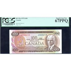 Bank of Canada $100, 1975