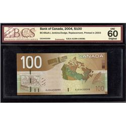Bank of Canada $100, 2004 Replacement