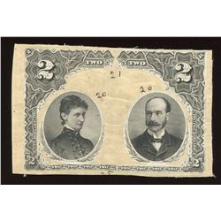 Dominion of Canada, $2, 1887, production working model of portraits.