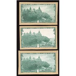 Dominion of Canada $4 Progressive Proofs - Lot of 3