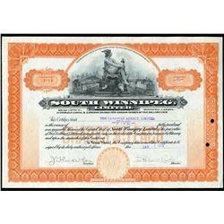 South Winnipeg Ltd. 5 shares, 1913