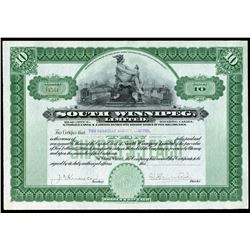 South Winnipeg Ltd. 10 shares, 1913