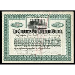 Consumers Gas Co. of Toronto 50 shares, 1921