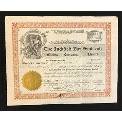 Jackfish Bay Syndicate Mining Co. Ltd. 450 shares, 1900