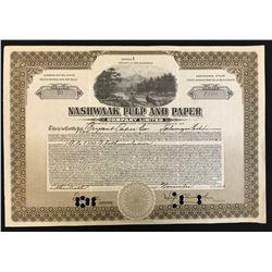 Nashwaak Pulp & Paper Co. Ltd. 8500 class B pfd sirs, 1923