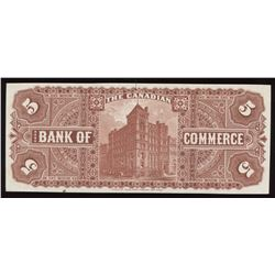 Canadian Bank of Commerce $5, 1888