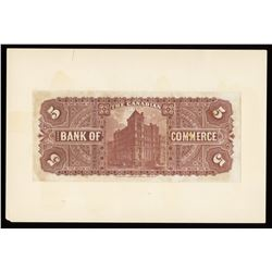 Canadian Bank of Commerce $5, 1892