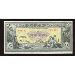 Canadian Bank of Commerce $20, Jan 2nd, 1917