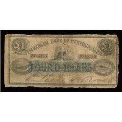 Commercial Bank of Newfoundland $4, 1867
