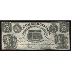 Commercial Bank of the Midland District, The, $5, 1848