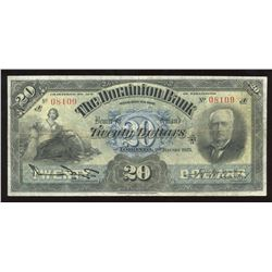 Dominion Bank $20, 1925