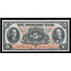 Dominion Bank $5, 1931