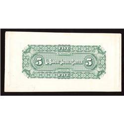 La Banque Jacques Cartier $5, 1886