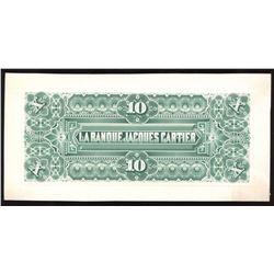 La Banque Jacques Cartier $10, 1886