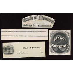 Bank of Montreal - Lot of 4