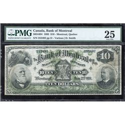 Bank of Montreal $10, 1895