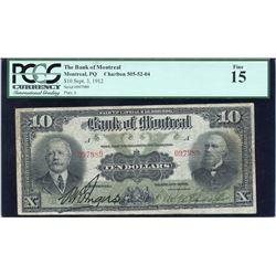 Bank of Montreal $10, 1912