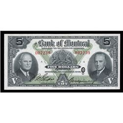 Bank of Montreal $5, 1942