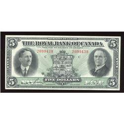 Royal Bank of Canada $5. Jan. 3rd, 1927