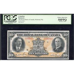Royal Bank of Canada $10. Jan. 3rd, 1927