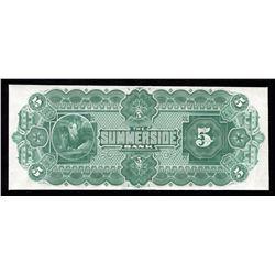 Summerside Bank of Prince Edward Island $5, 1891