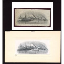 Bank of Vancouver $5, 1910-1914 B&W Center Vignettes - Lot of 2