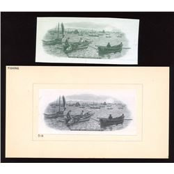 Bank of Vancouver $20. 1910-1914 B&W Center Vignettes - Lot of 2