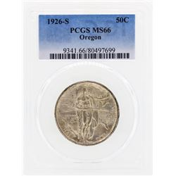 1926-S Oregon Commemorative Half Dollar Coin PCGS MS66