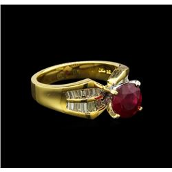 14KT Yellow Gold 2.13 ctw Ruby and Diamond Ring