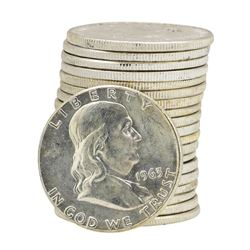 Roll of (20) 1963 Brilliant Uncirculated Franklin Half Dollars