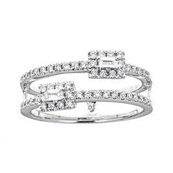0.08 ctw Diamond Ring - 18KT White Gold