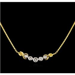 1.03 ctw Diamond Necklace - 14KT Yellow and White Gold