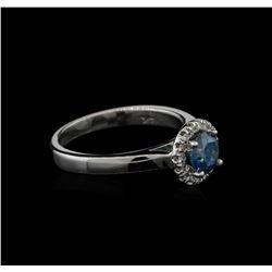 0.84 ctw Blue Diamond Ring - 14KT White Gold