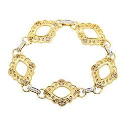 1.18 ctw Diamond Bracelet - 18KT Yellow Gold