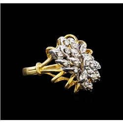 0.27 ctw Diamond Ring - 14KT Yellow and White Gold