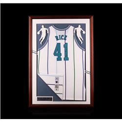 Glen Rice Framed Autographed Jersey